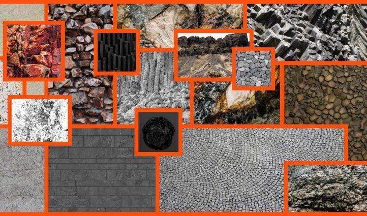 basalt textures Example.