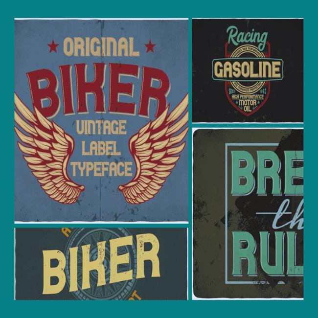 biker font cover image.