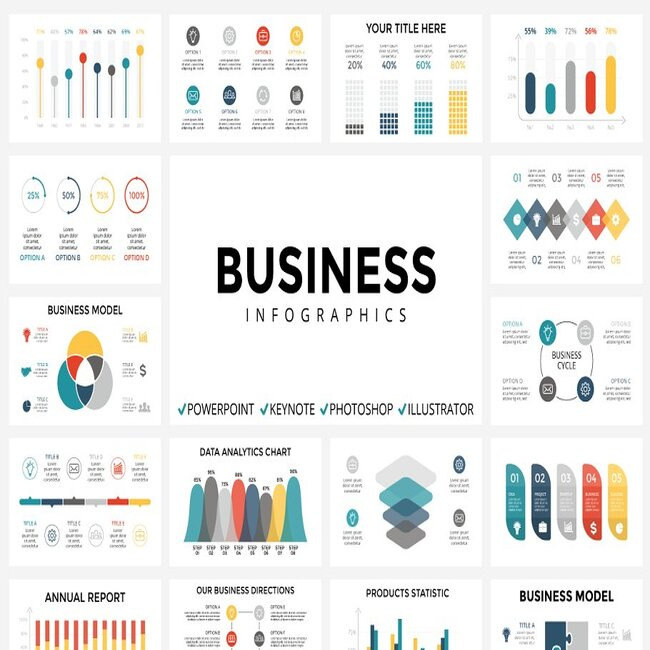 Business Infographics main cover image.