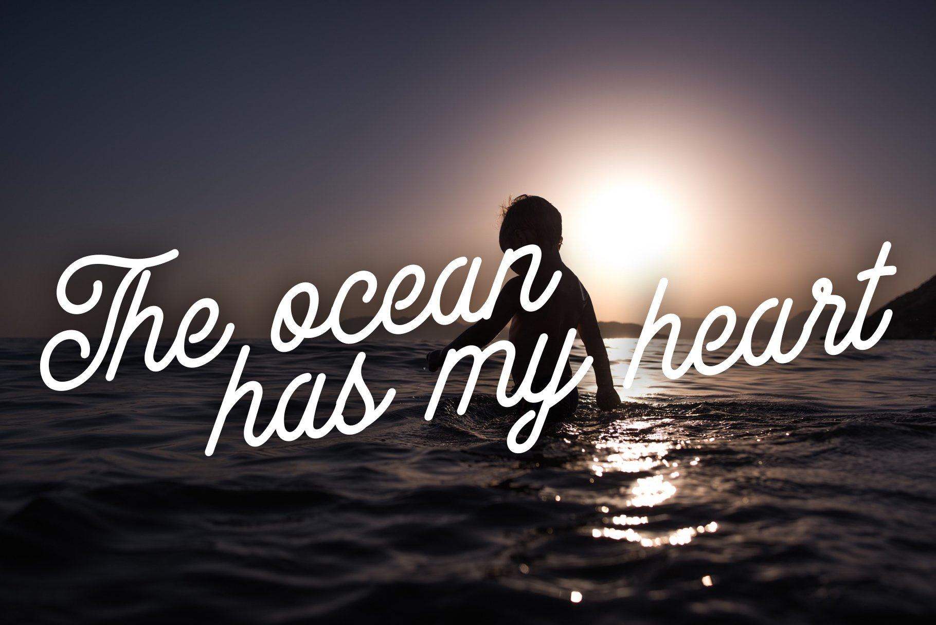 Swimming in the ocean at sunset is a separate kind of pleasure.