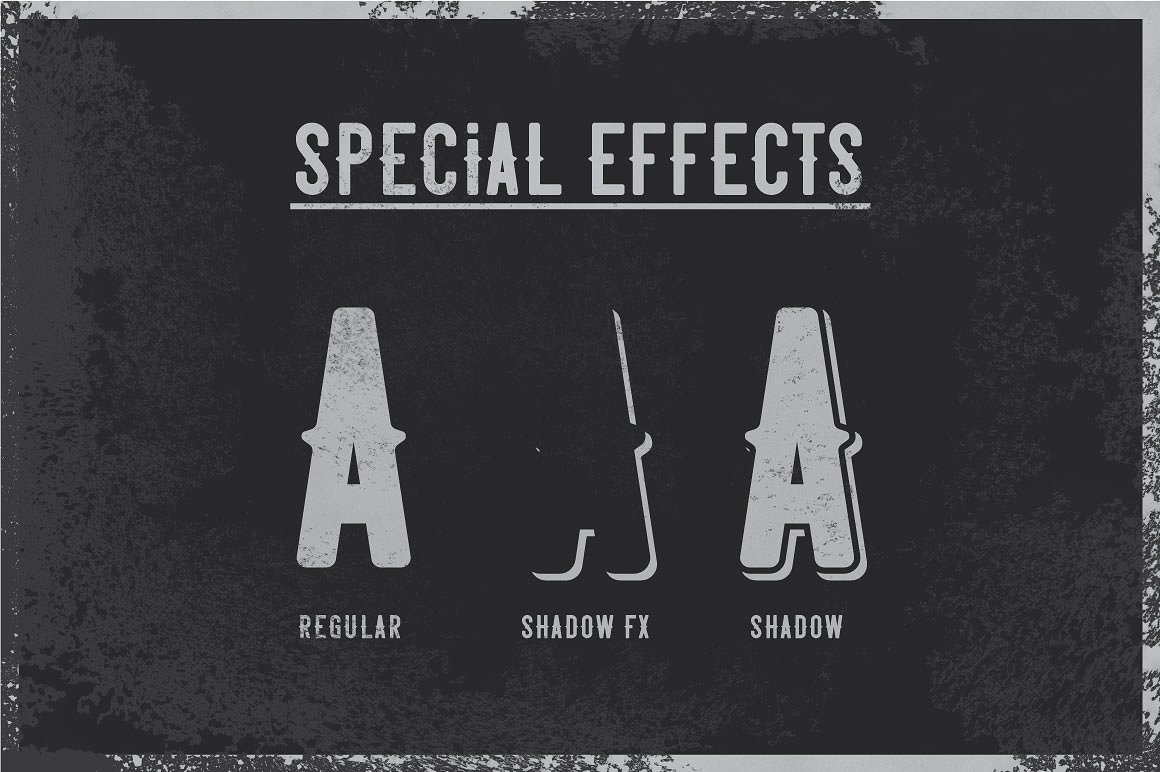 Special effects of Garage Typeface.