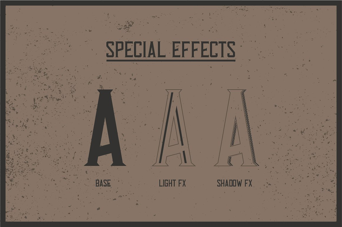 Special effects of Tennessee Whiskey Label Font.
