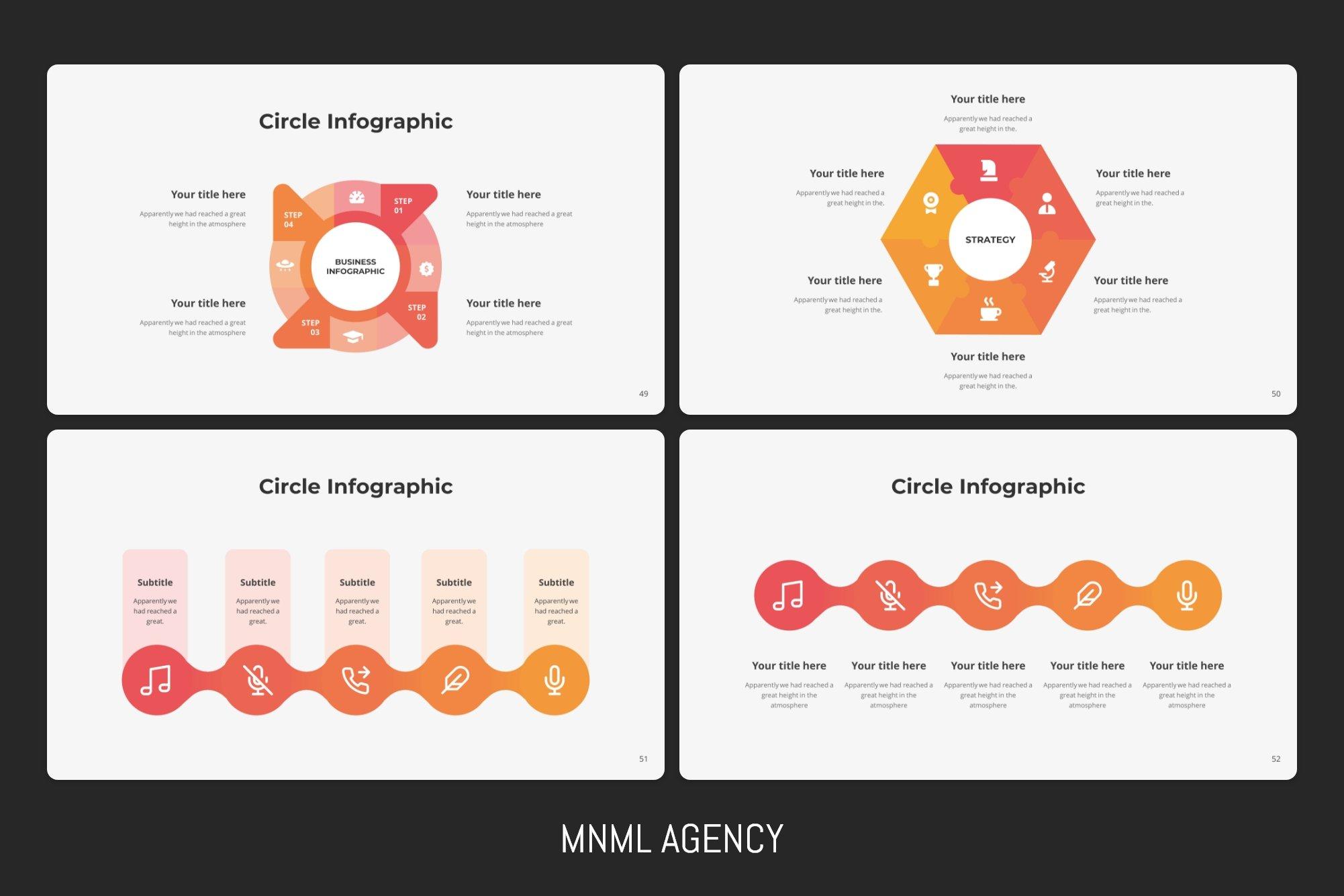 Modern and stylish infographics.