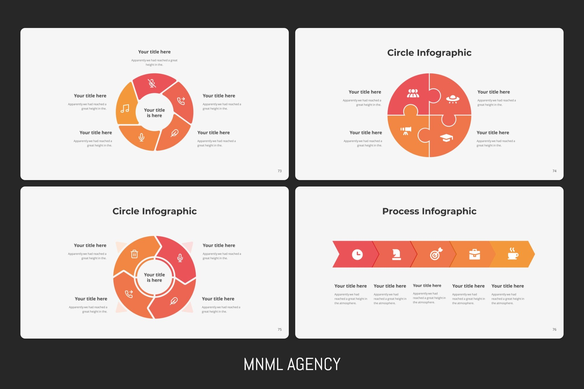Process infographics can show all detail of project.