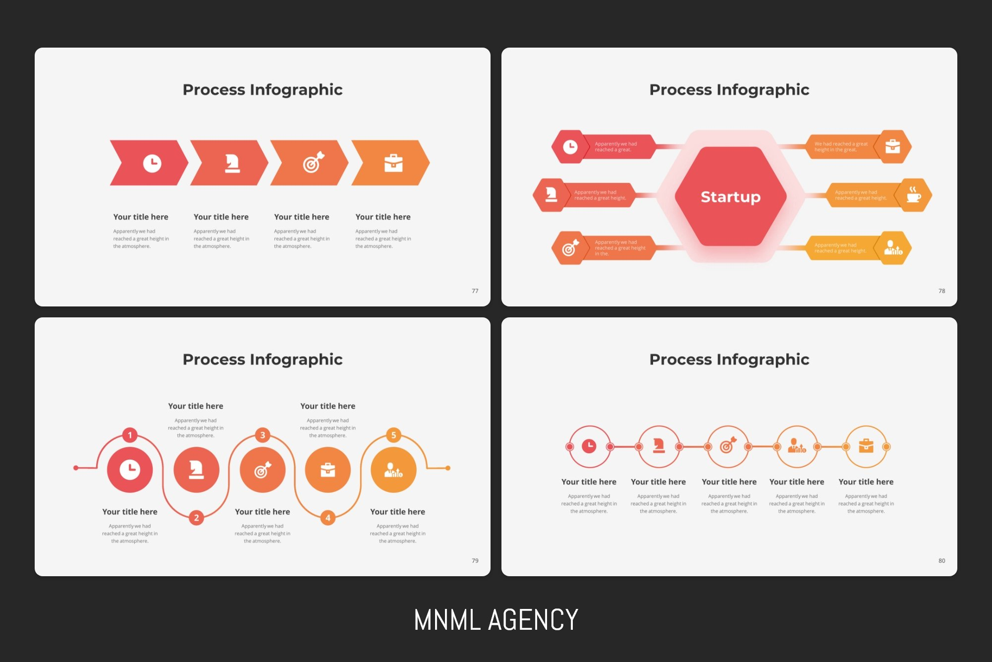 Creative process infographics.