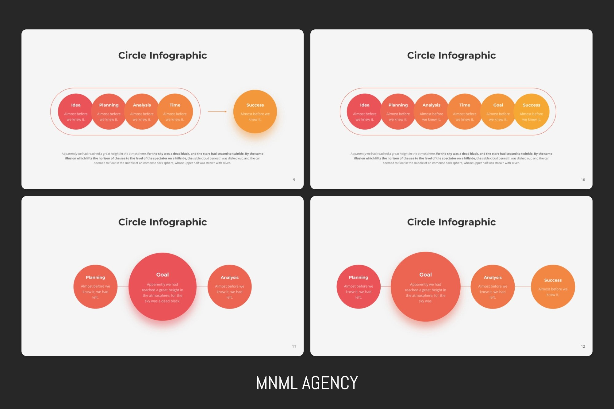 A lot of variants of circle infographic.