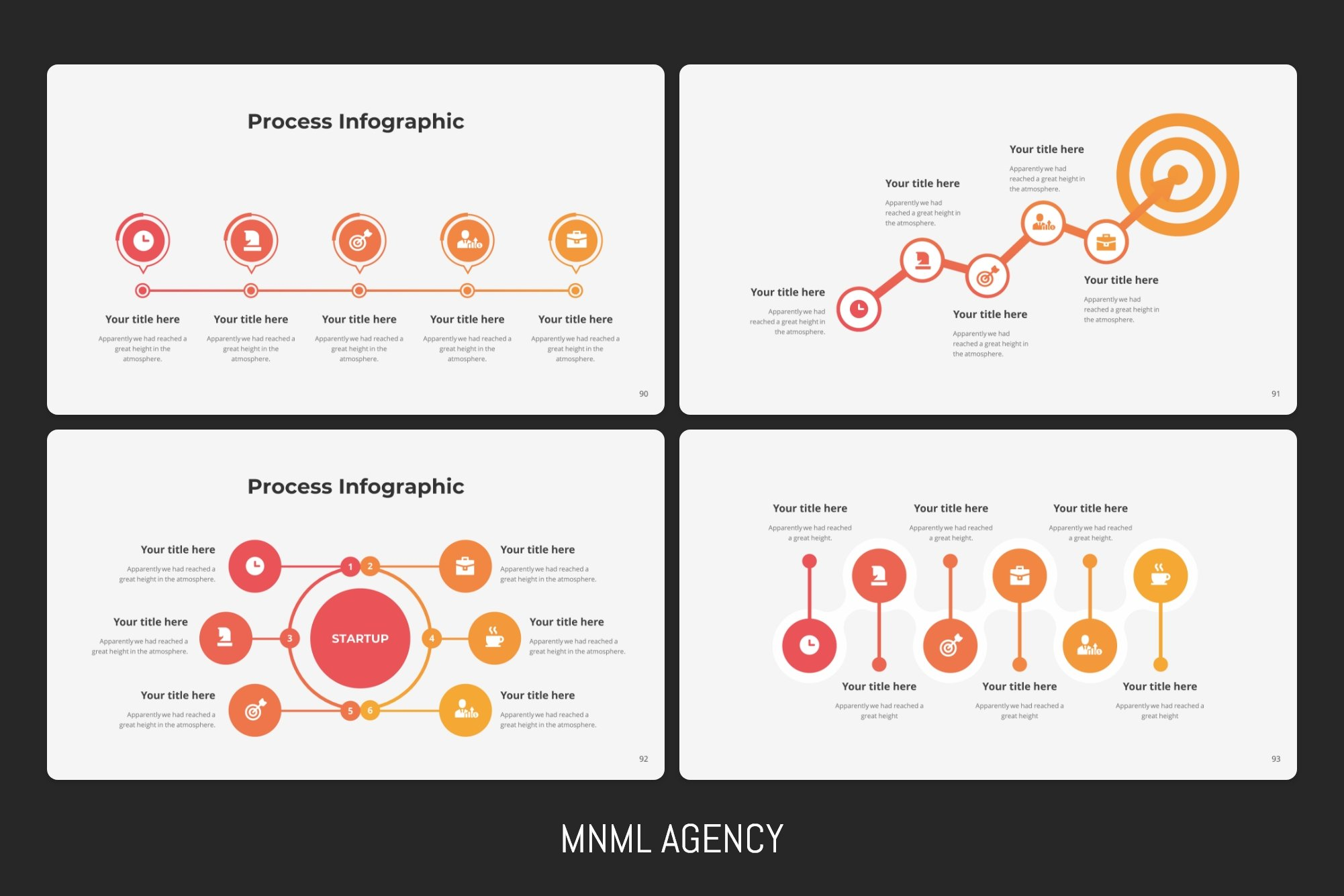 Process infographics will help you to understand where your target.