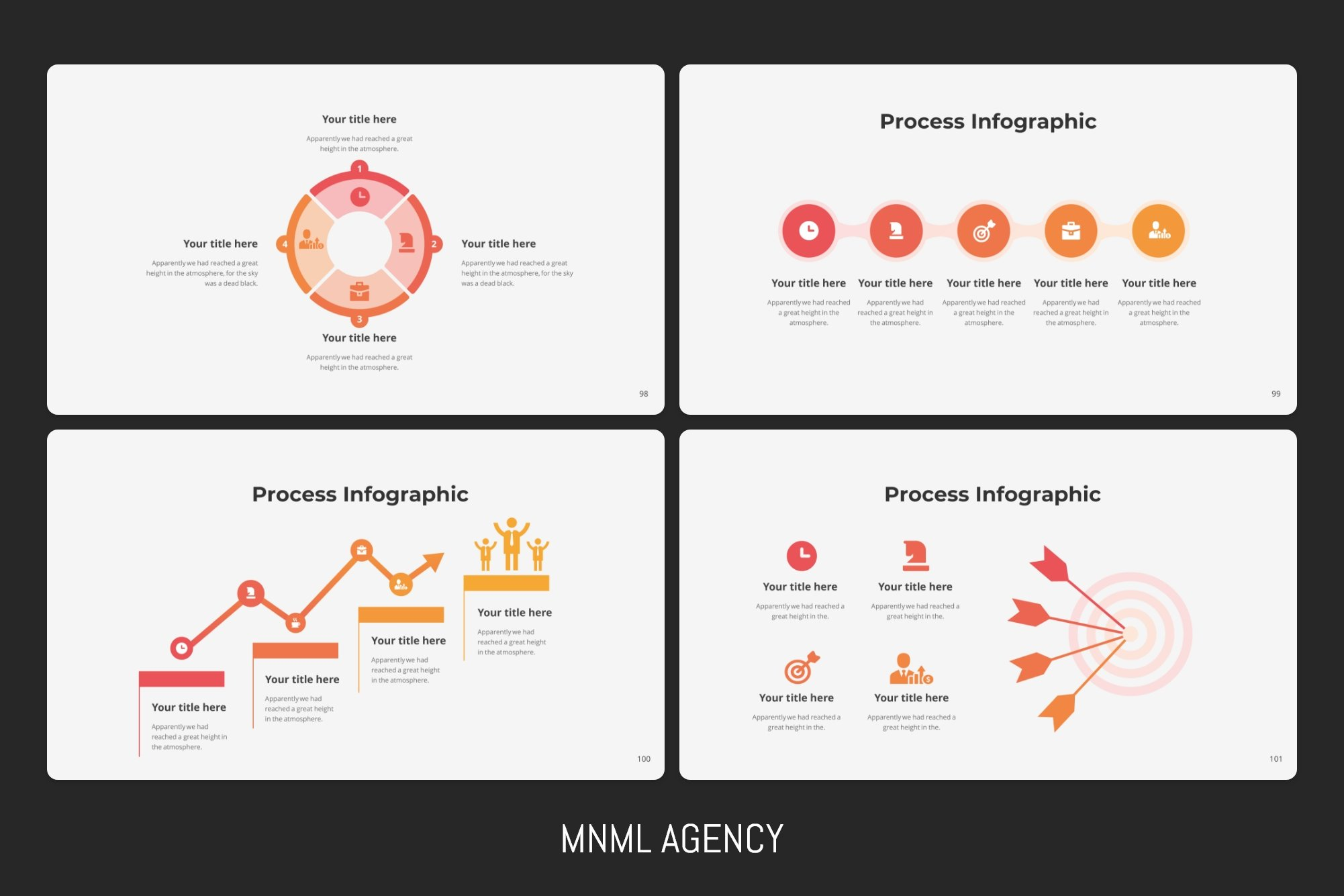 Circle process infographics.
