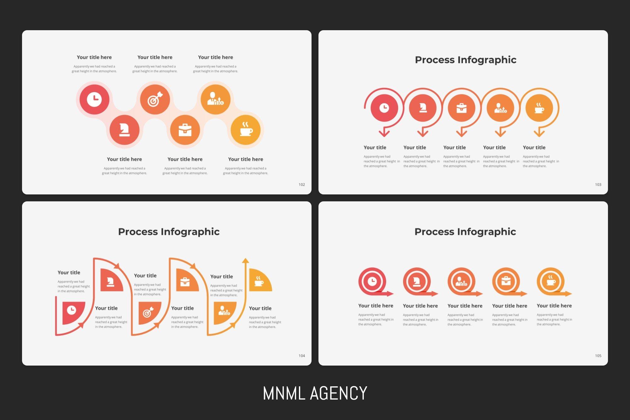 Stylish and modern process infographics.