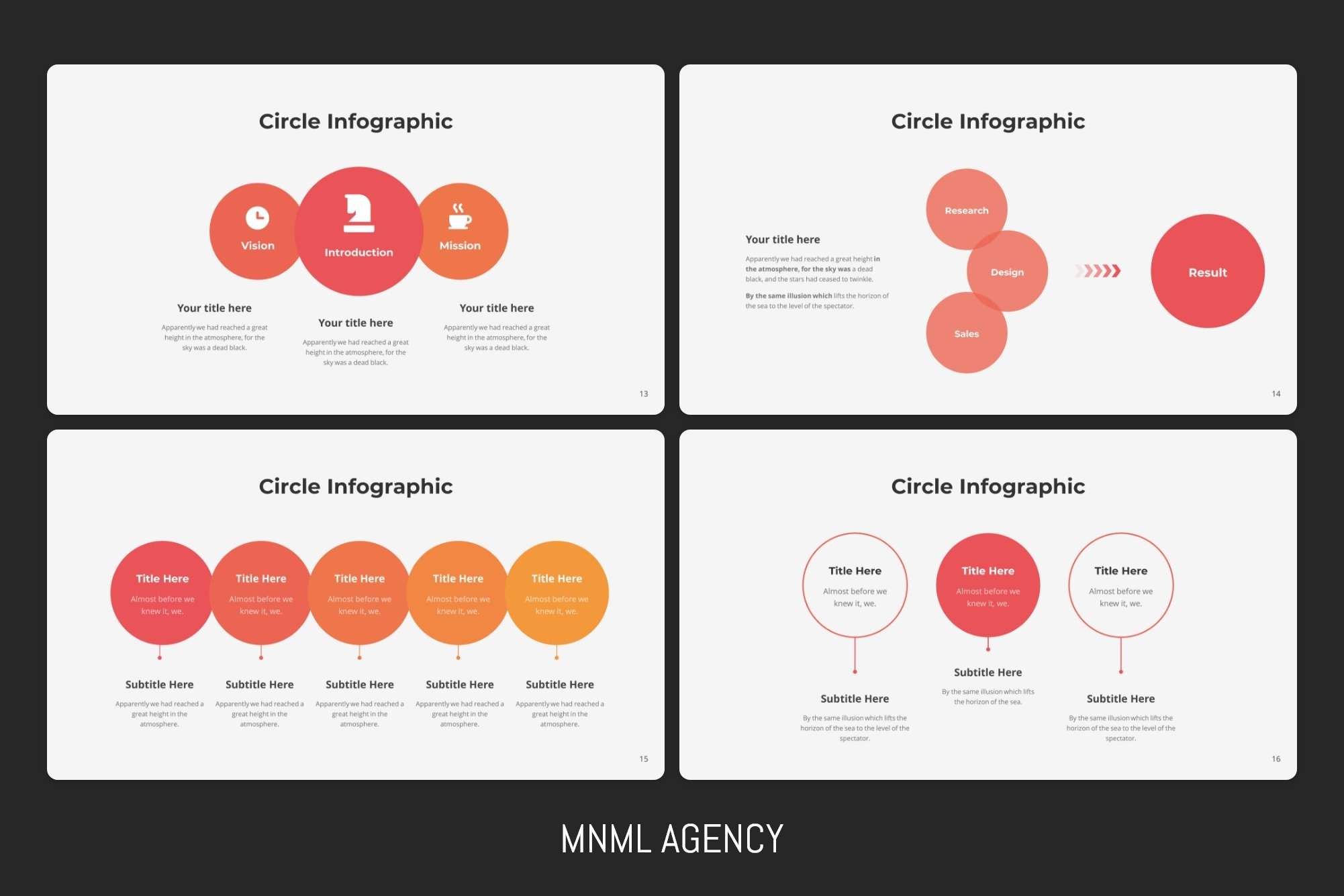 Other options circle infographics.