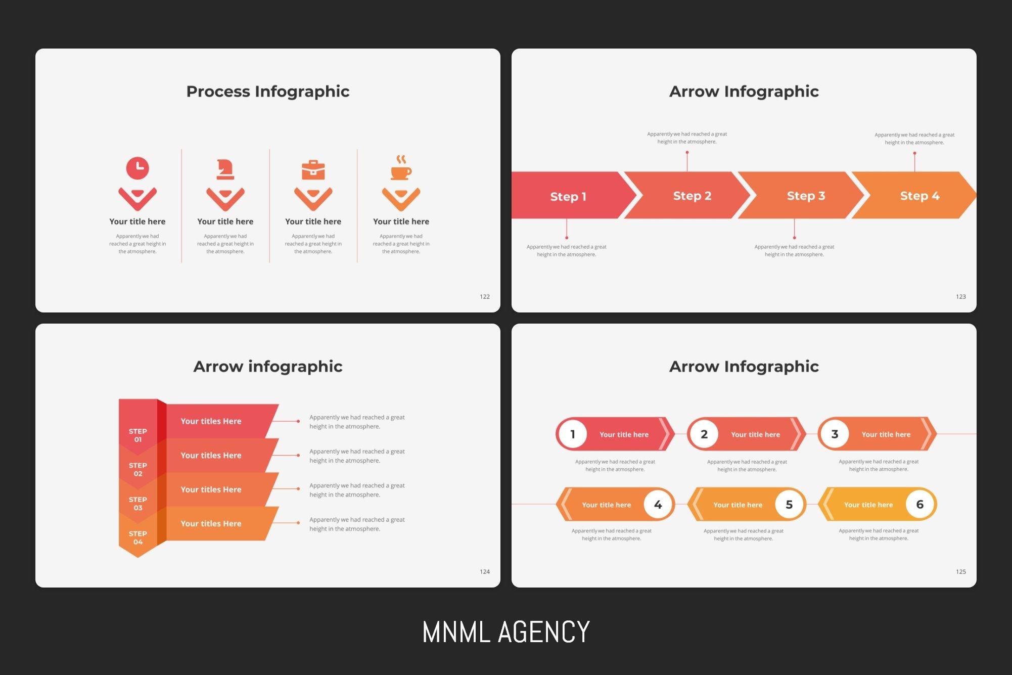 Arrow infographics.