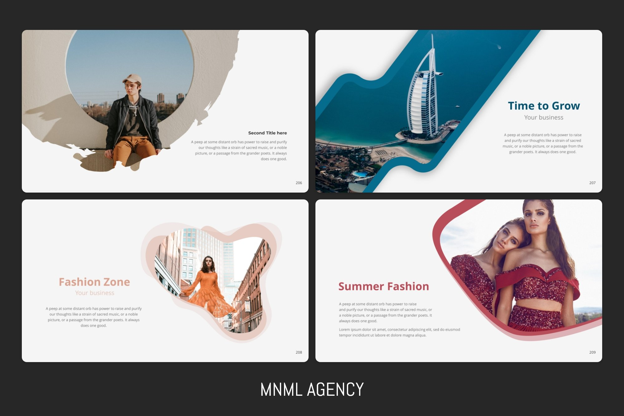Bright slide with quality graphics and text blocks.