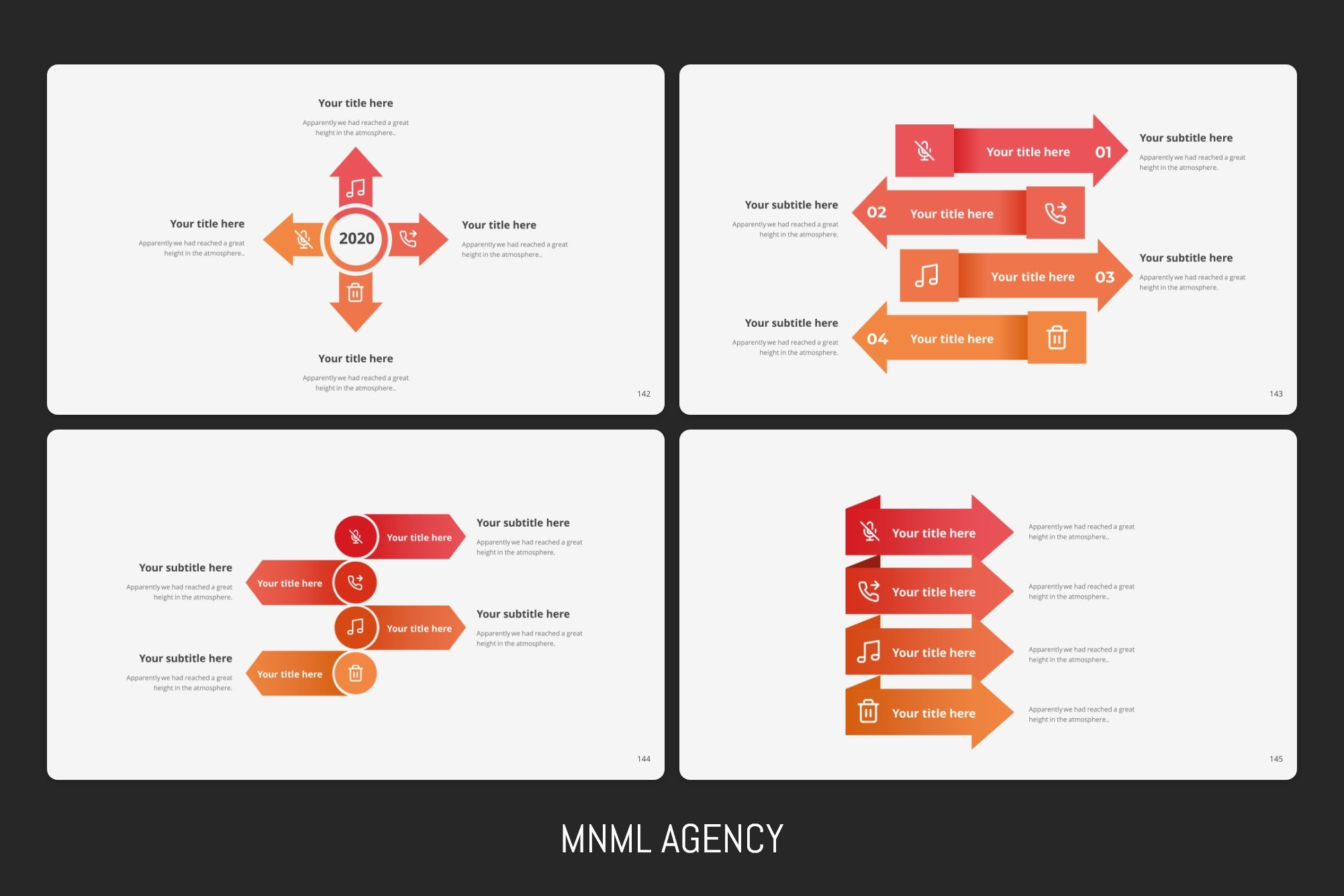 Business infographic with modern elements.