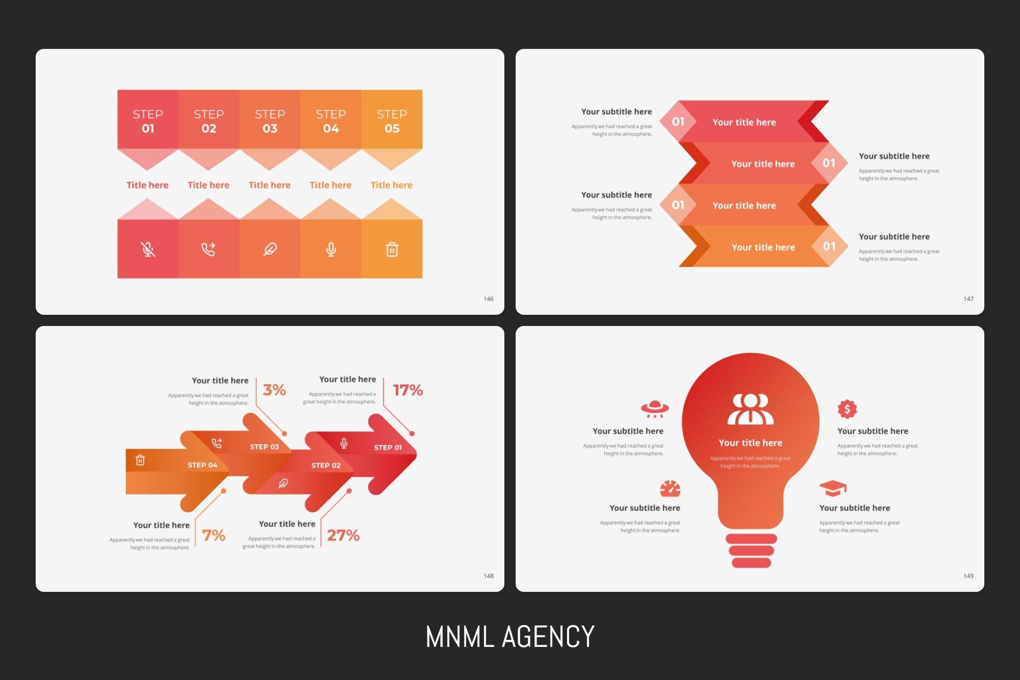 Infographics with arrow.