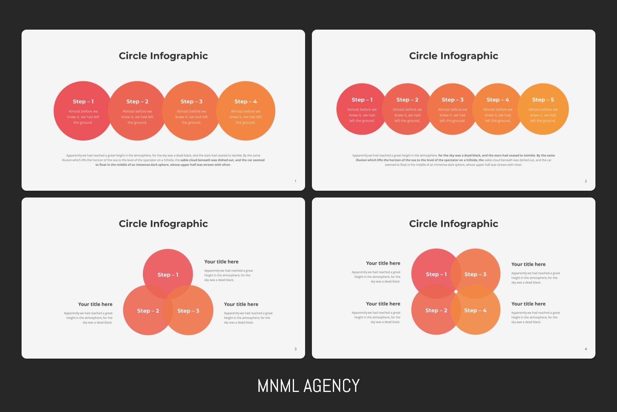 Infographic details in the different colors.