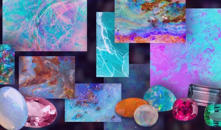 Best Opal Texture Images Example.