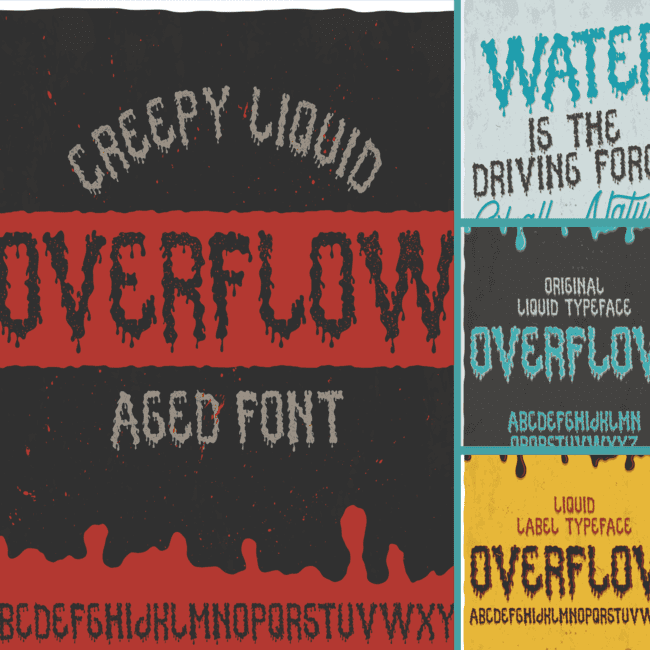 Overflow typeface - cover image.