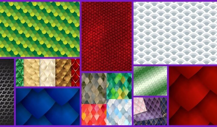 Dragon Scale Pattern Example.
