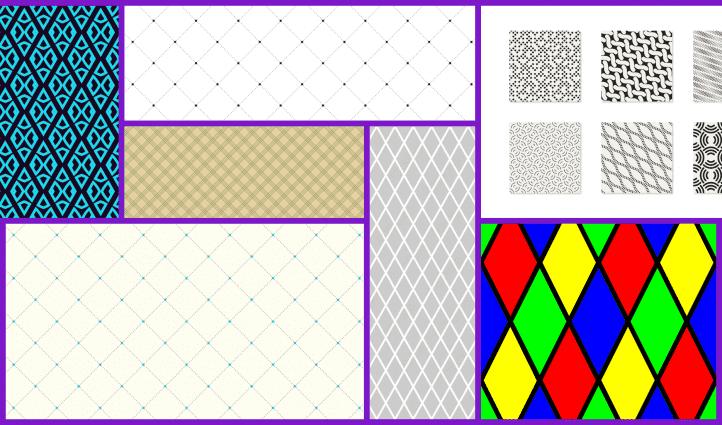 Rhombus Pattern Example.