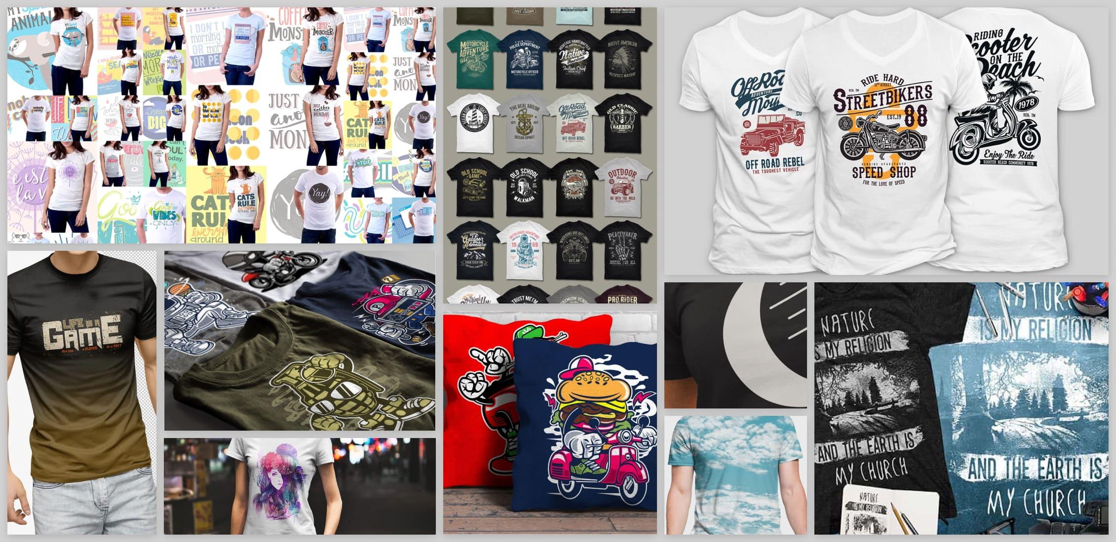 Cute T-shirt Design Templates Example.