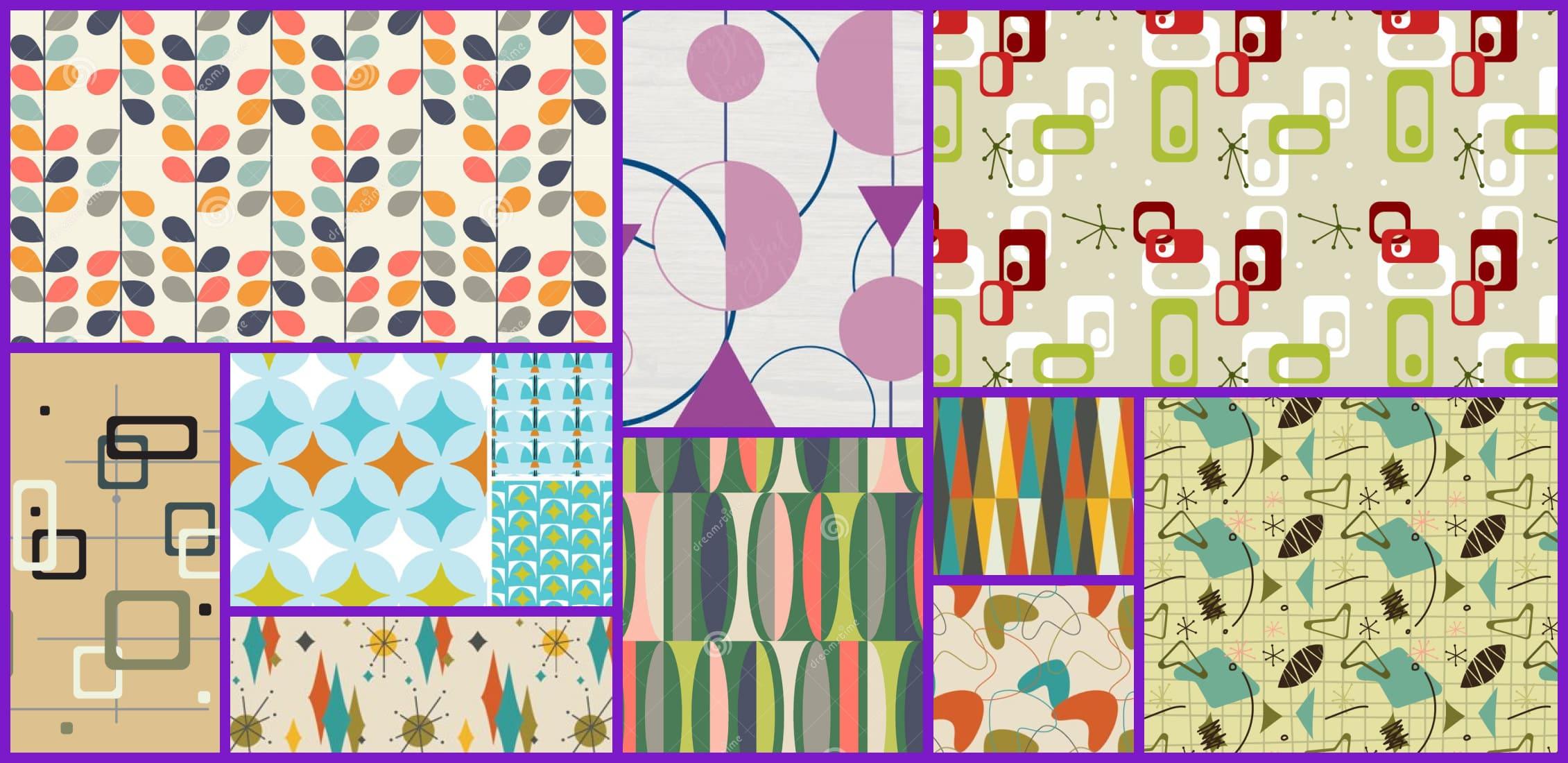 Mid Century Modern Pattern Example.
