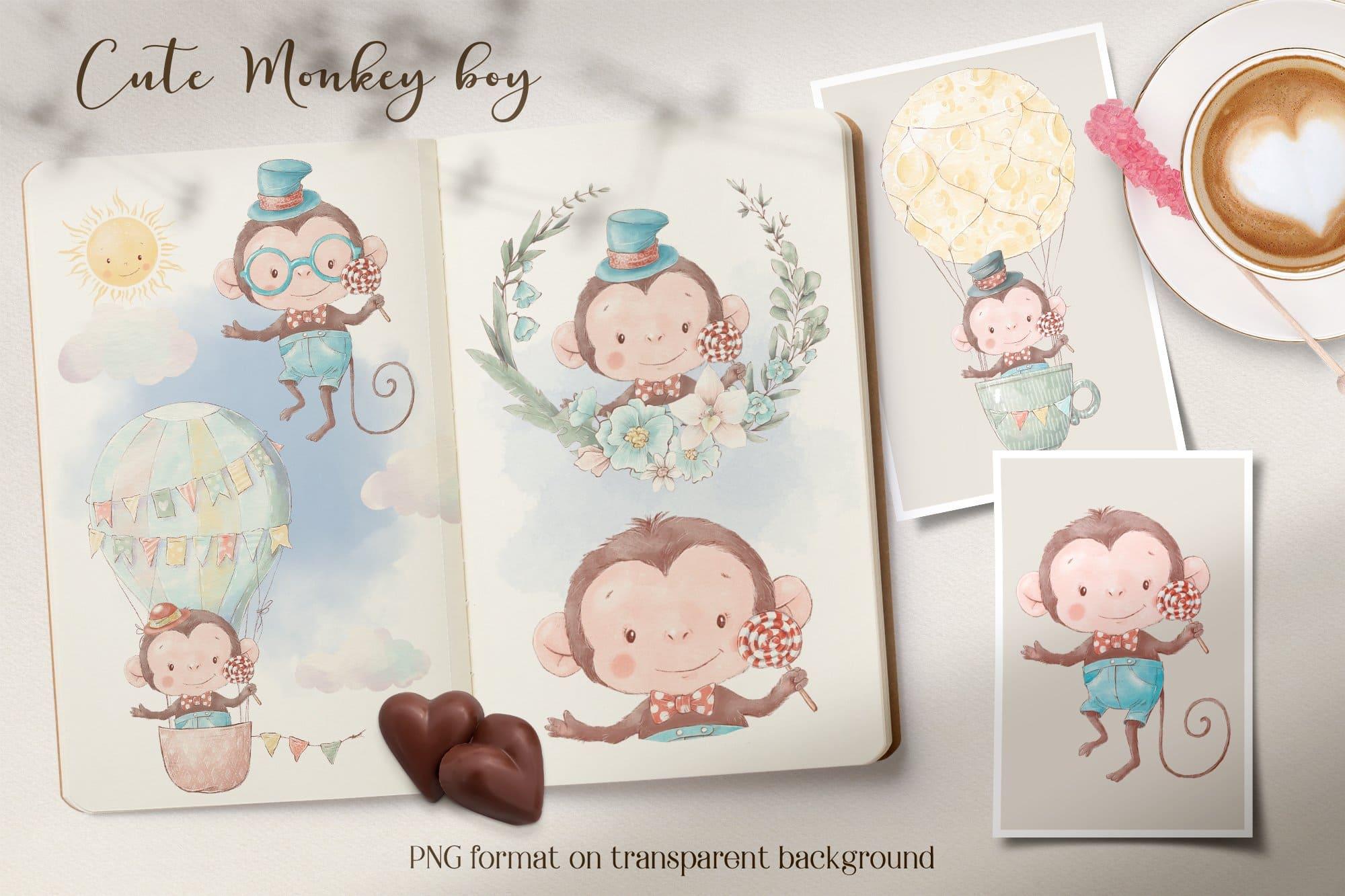 Funny monkey boy.