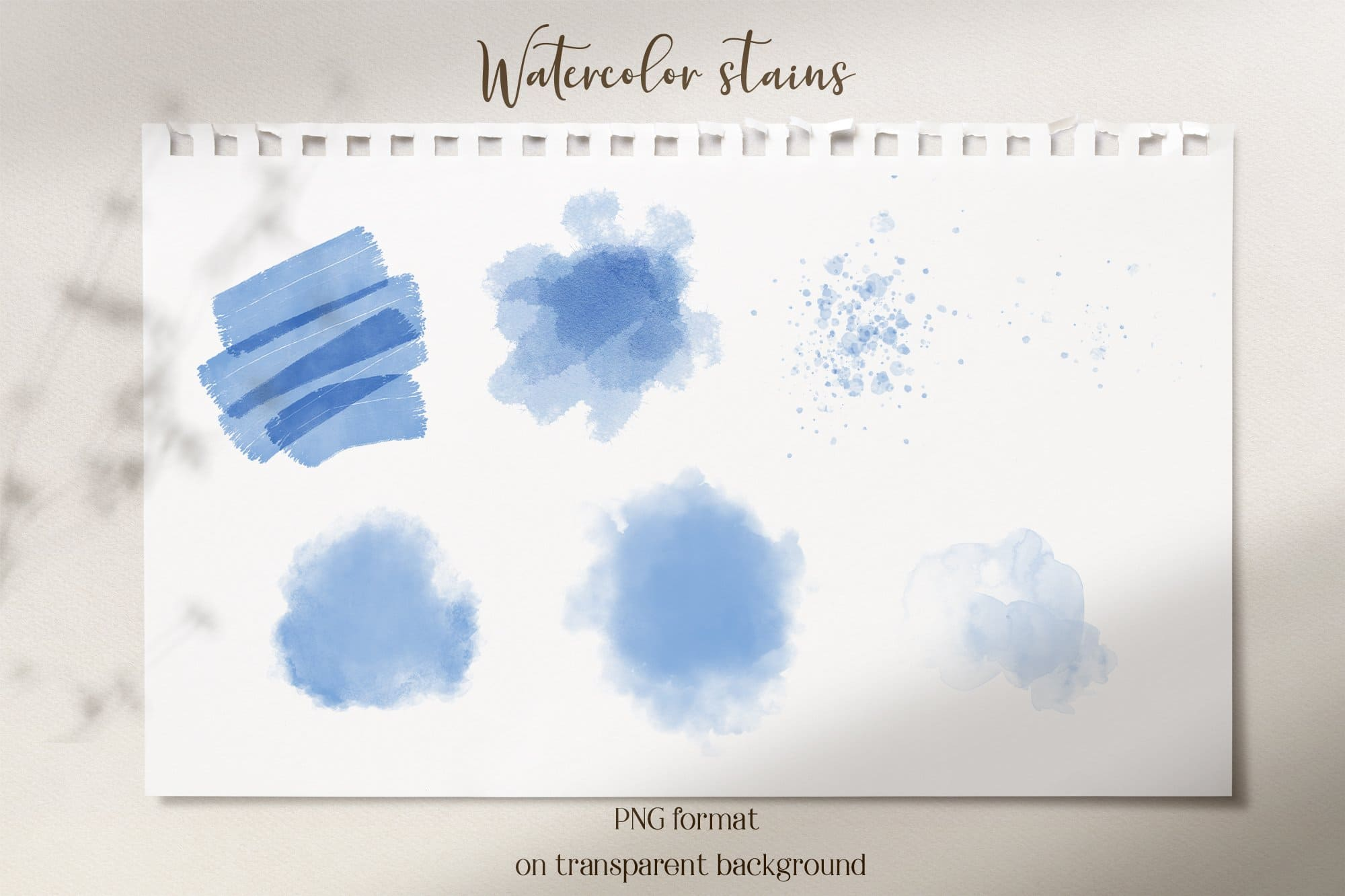 Watercolor blue stains.