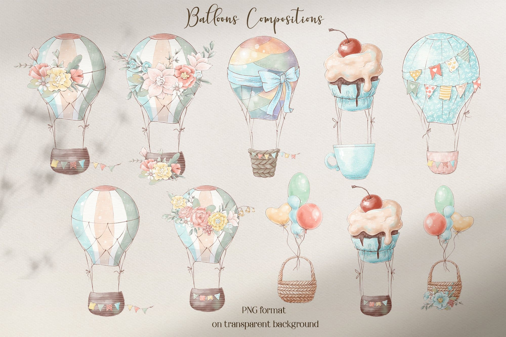 Sweet balloons compositions.