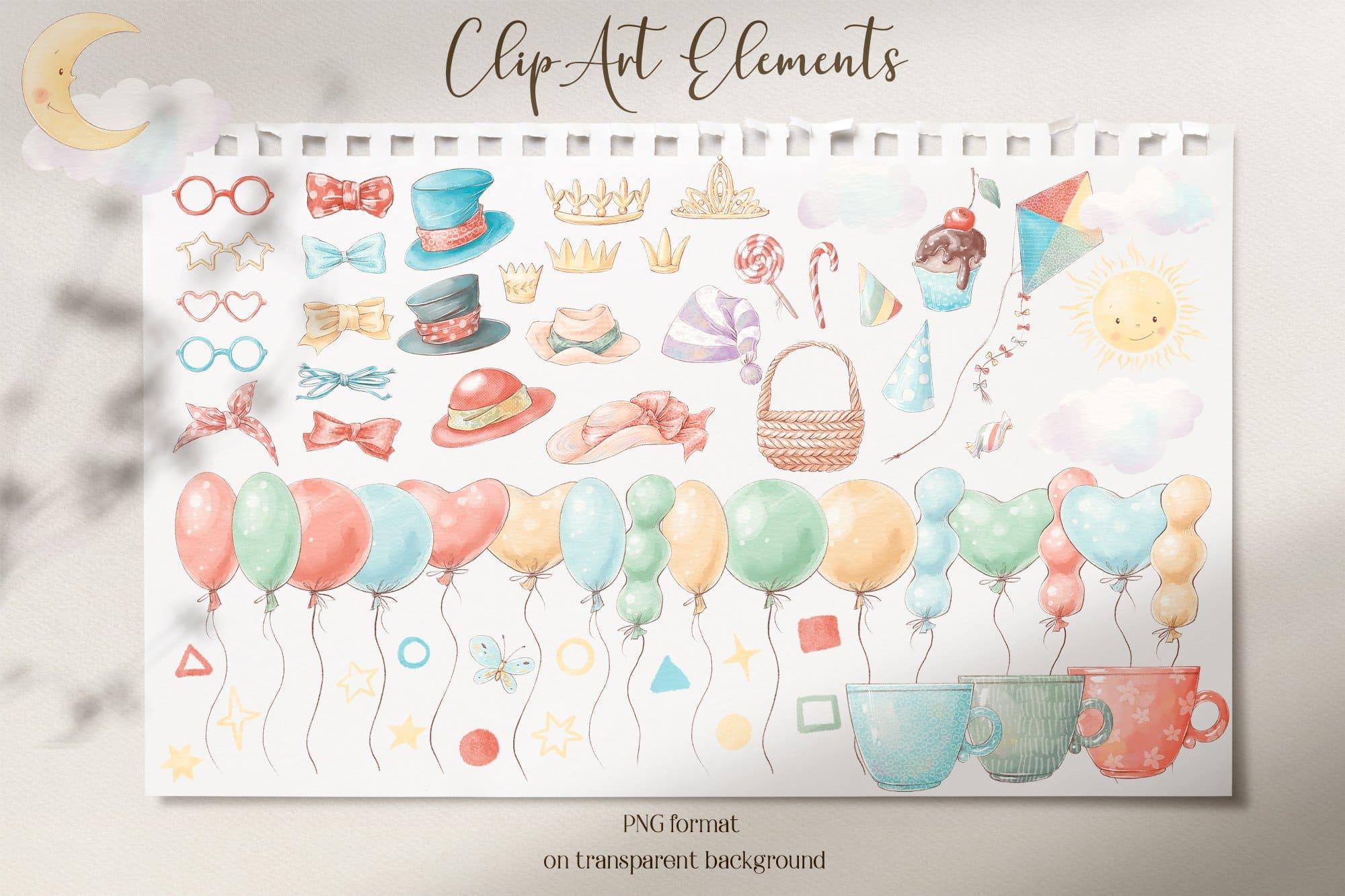 Elements for clip art.