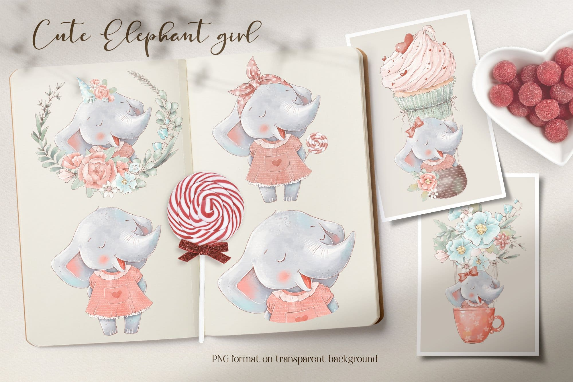 Sweet elephant girl.