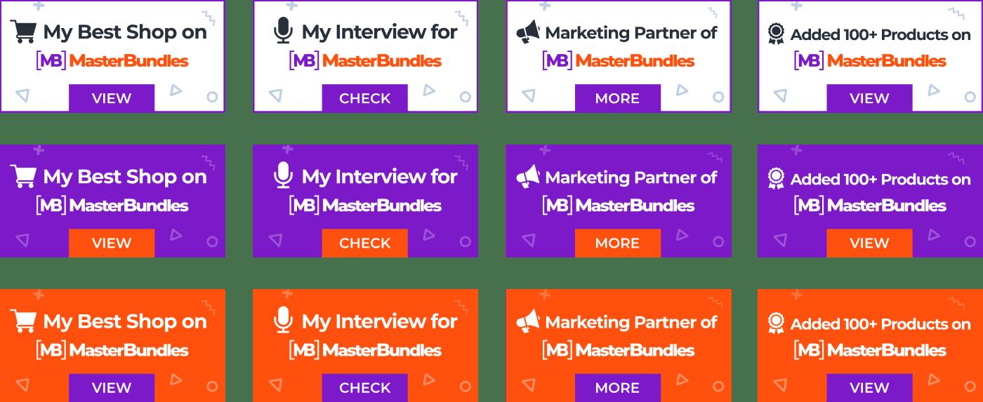 MasterBundles Badges for your website or social networking profiles.