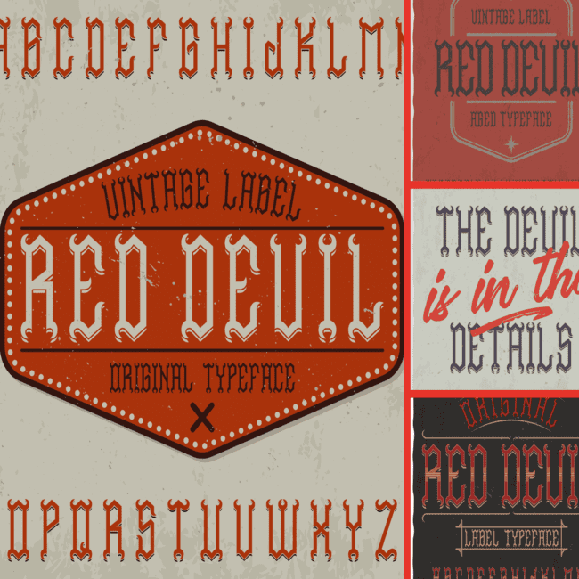 Red Devil Typeface cover image.