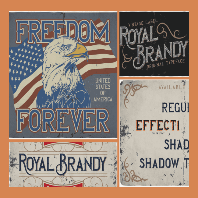 Royal Brandy typeface cover image.