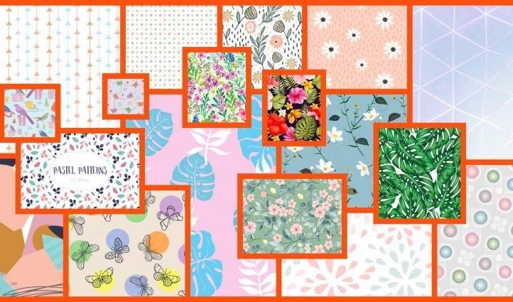 seamless pastel pattern Example.