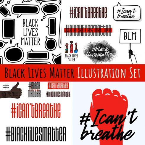 01 Black Lives Matter Illustration Set 1100x1100 2