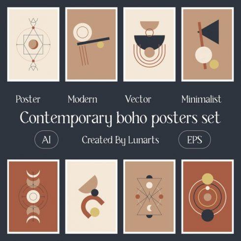 01 Contemporary boho posters set 1100x1100 1