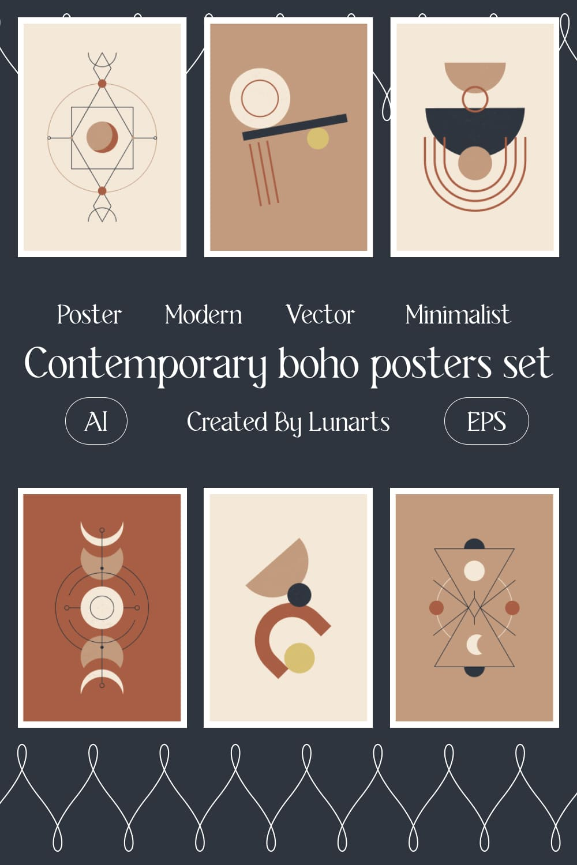 Contemporary Boho Posters Set Pinterest.