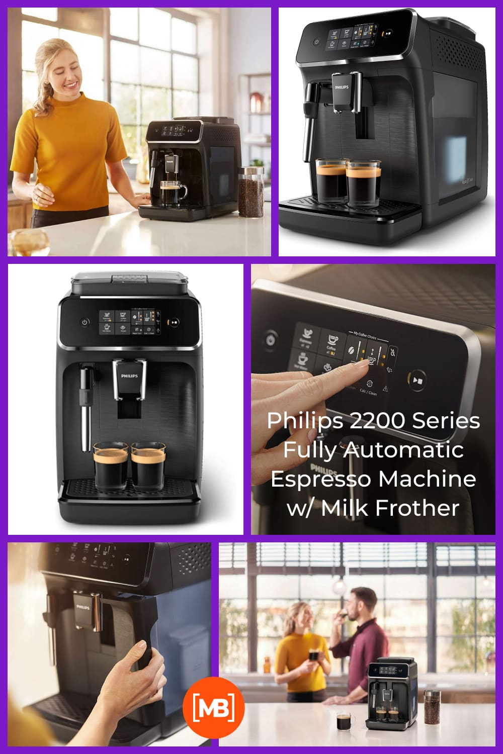 Easy selection of your coffee with intuitive touch display, makes espresso, hot water and coffee.