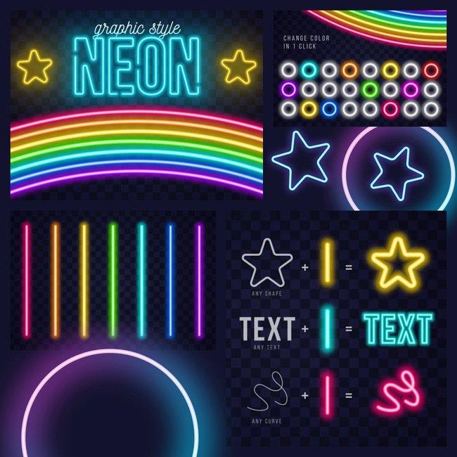 01 Realistic Neon AI Style 1100x1100 3