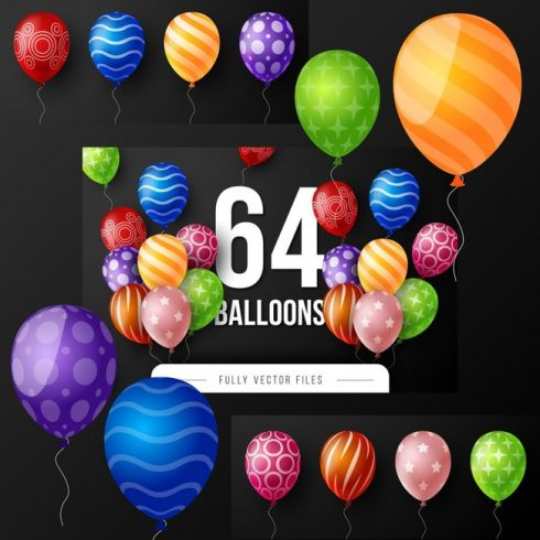 01 Set of 64 balloons 1100x1100 3