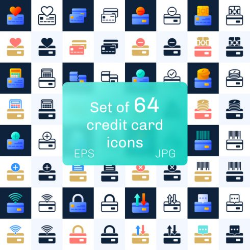 01 Set of 64 credit card icons 1100x1100 2