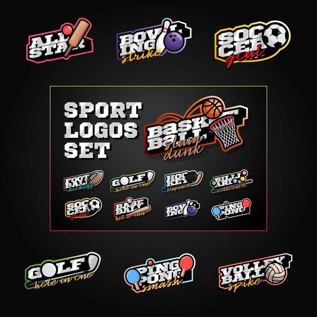 01 Sport Logos Set 1100x1100 2