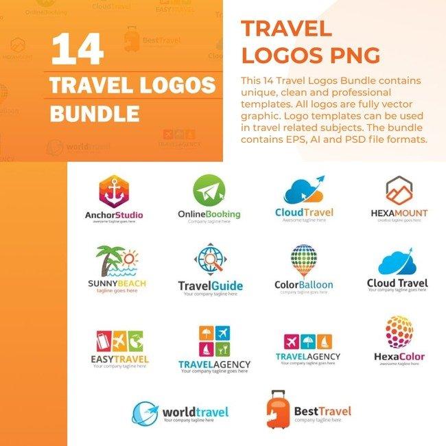 01 Travel Logos PNG Bundle 1100x1100 2