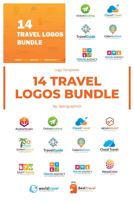 Travel Logos PNG Bundle Pinterest.