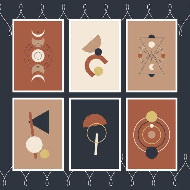 02 Contemporary boho posters set 1100x1100 1