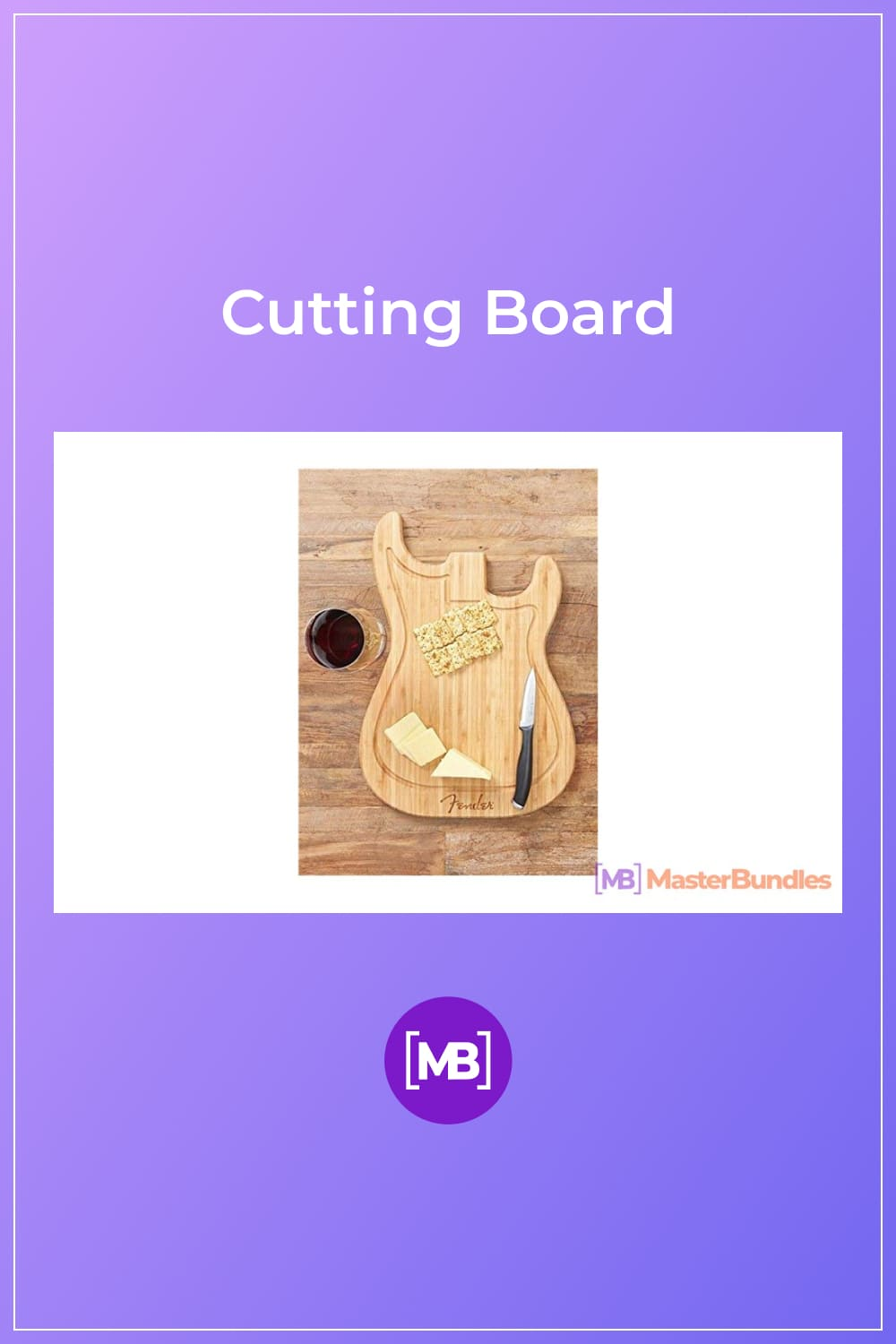 Cutting Board. Gifts for Musicians.