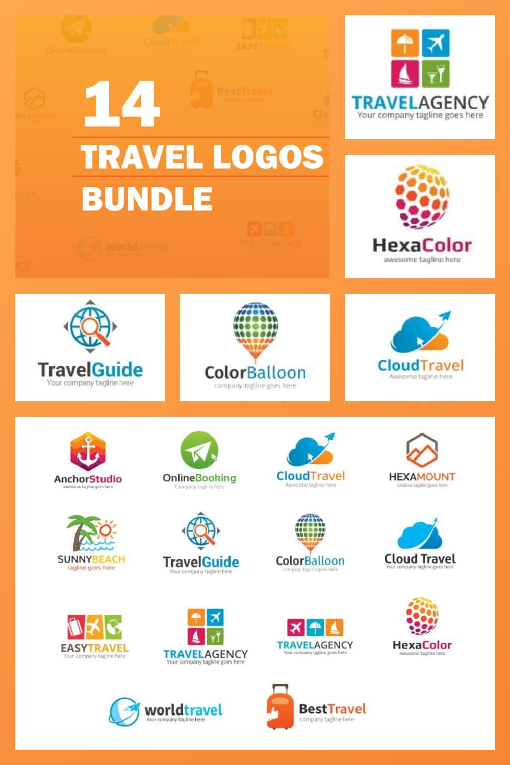 This is the collection that will make your logo brighter and more memorable.
