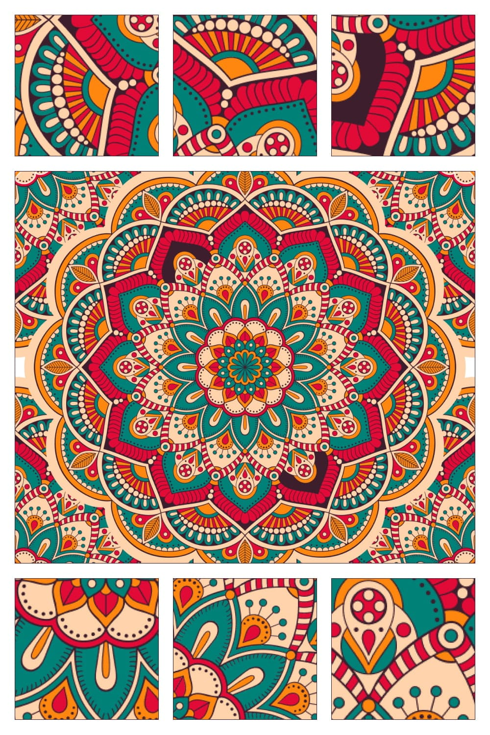 A rich and luxurious mandala created from other mandalas.