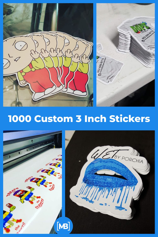 Custom 3 inch stickers.