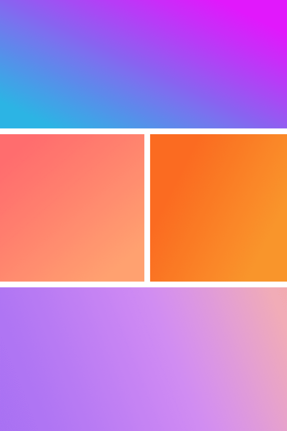 Pastel and calm colors are presented through a gradient.